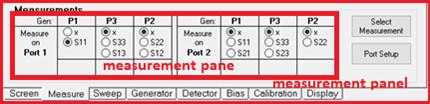 MeasurementsパネルとMeasureペインの位置