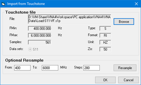 Touchstoneファイル